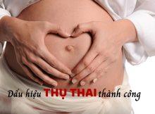 Dấu hiệu thụ thai thành công. 8